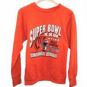 D130 Vintage Logo 7 Cincinnati Bengals NFL Crewnec